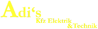 Adi's Kfz-Workshop- Elektrik & Technik, Text